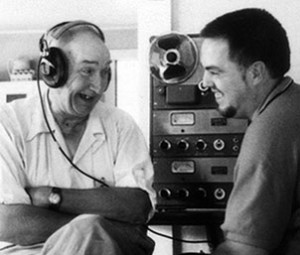 Alan Lomax (right) with musician Ward Wade (photo Shirley Collins / Alan Lomax Archive)