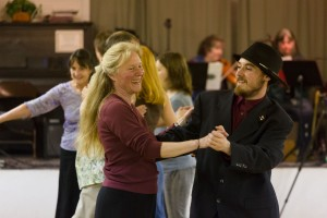 South Coast Folk Society contra dance at Green Acres Grange Hall, Coos Bay, OR