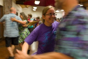 Contra dance, AmWeek, Jones Gulch YMCA Camp, CA.