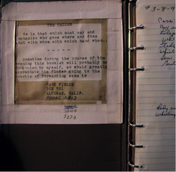 hank fields dance notebook