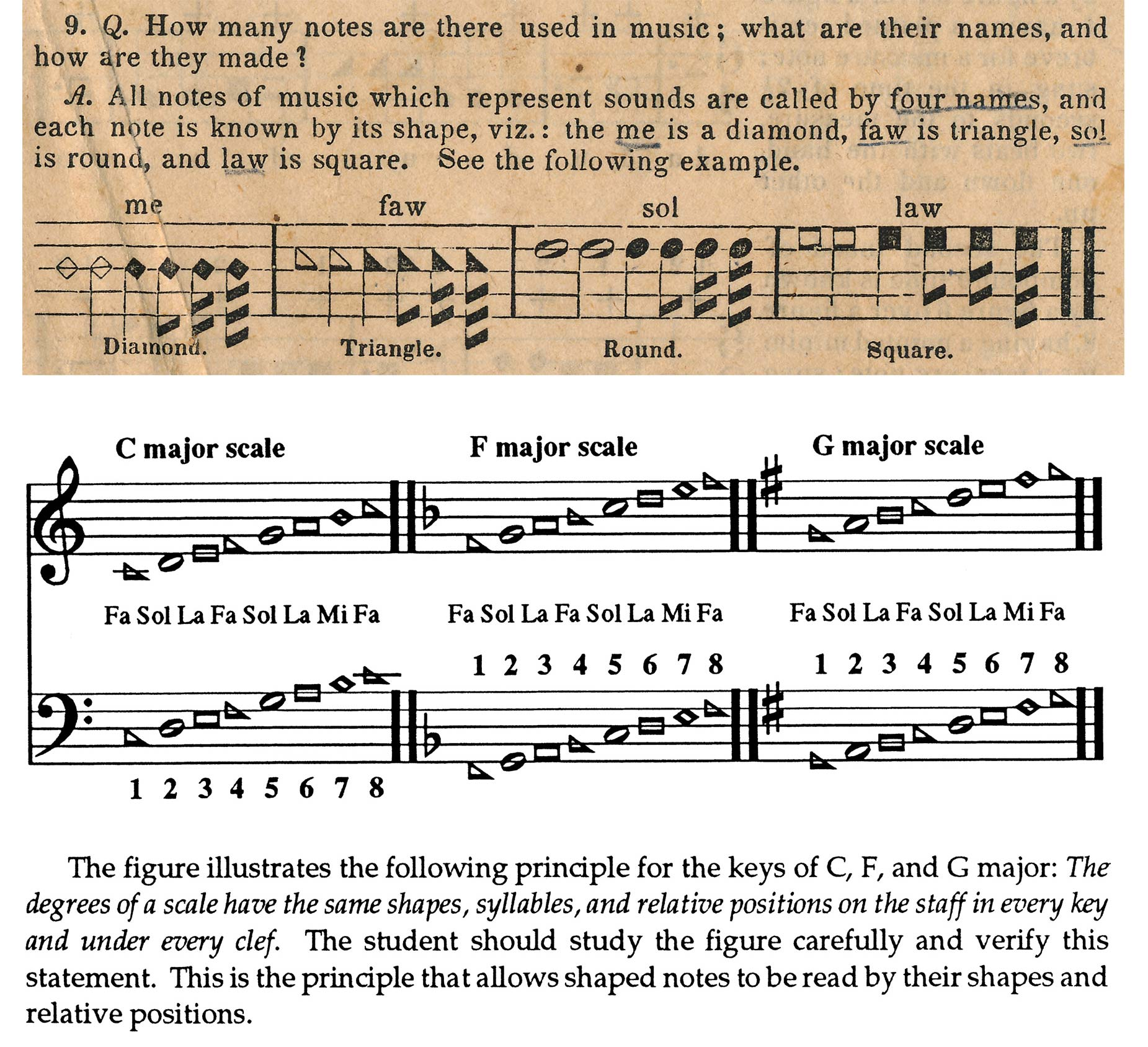 079911683 Shape-notes and the major scale from the rudiments of music of The Sacred  Harp