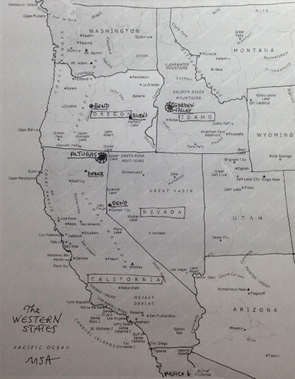 the western states