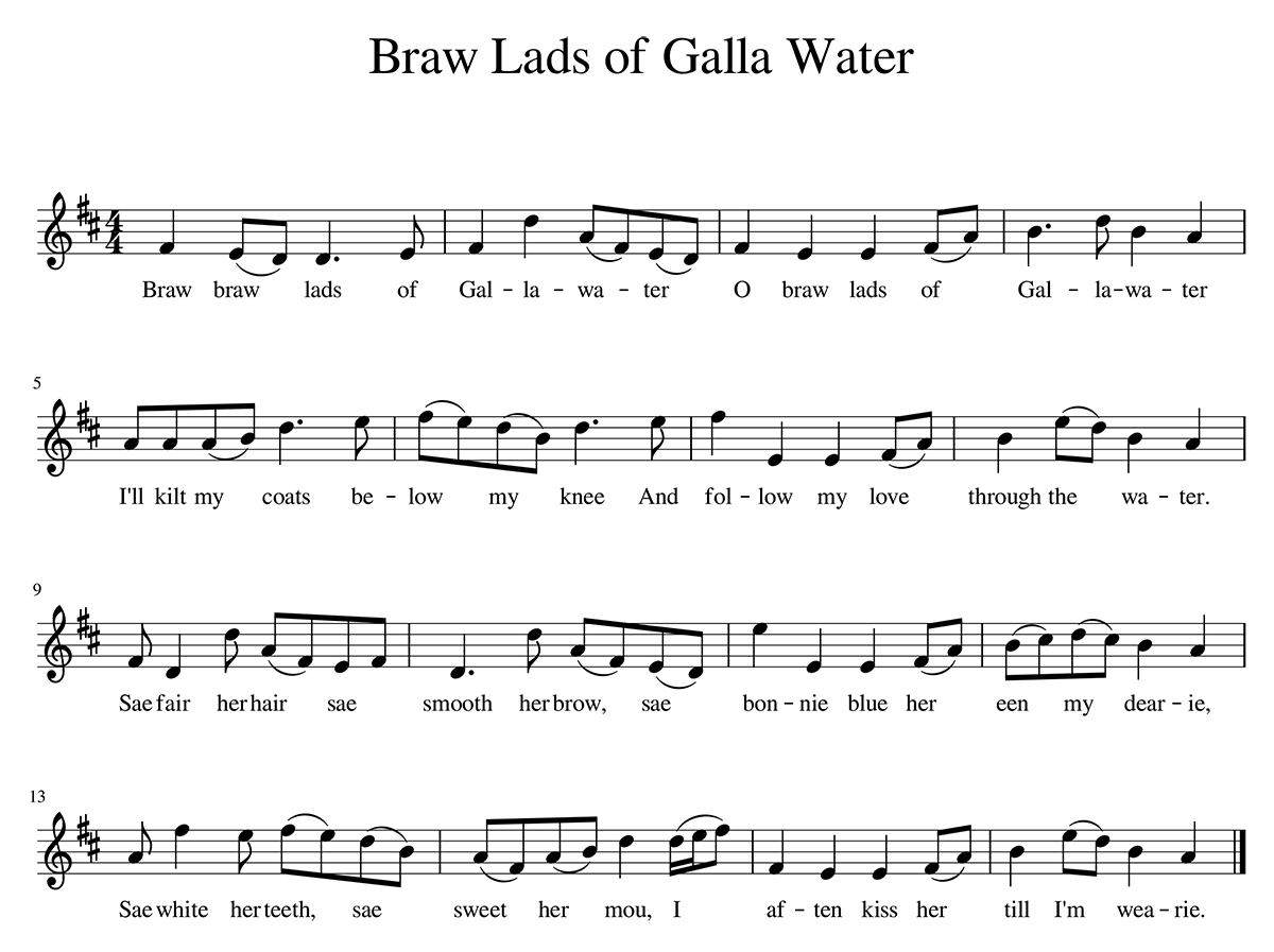 """Braw Lads of Galla Water"" sheet music"