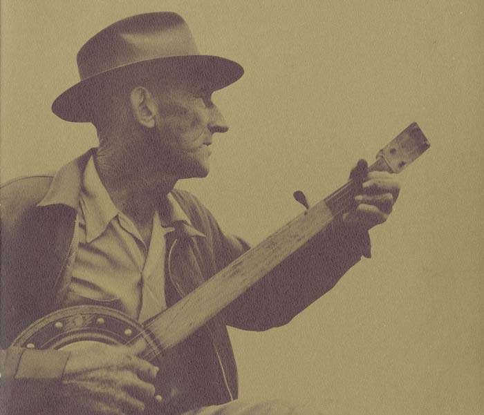 Frank Proffitt playing banjo