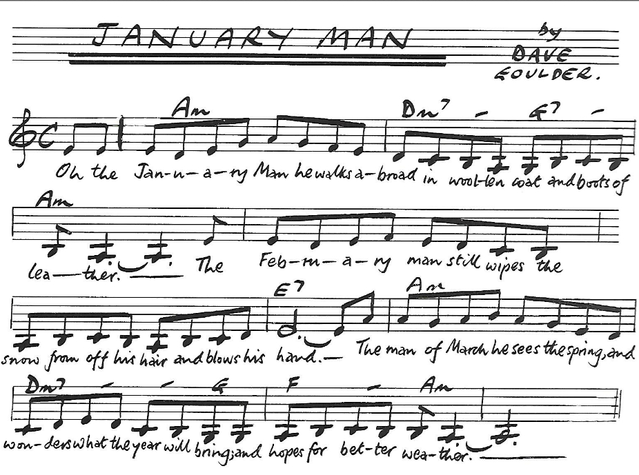 january man tune notation