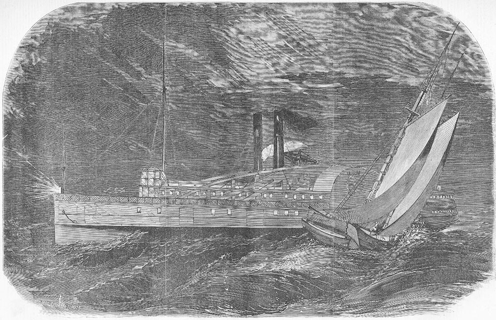 The Lady Elgin during the crash